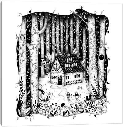 House In The Woods Canvas Art Print