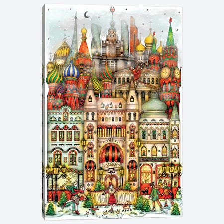 Midnight In Moscow Canvas Print #MDT25} by Madalina Tantareanu Canvas Wall Art
