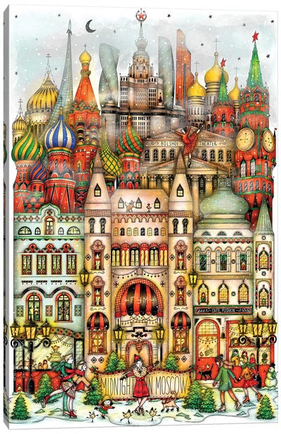 Midnight In Moscow Canvas Art Print