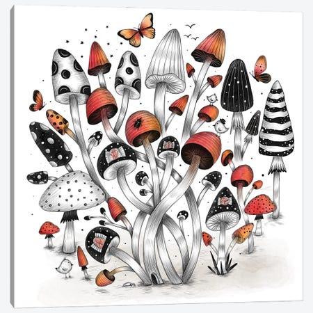 Mushroom World Canvas Print #MDT26} by Madalina Tantareanu Canvas Wall Art
