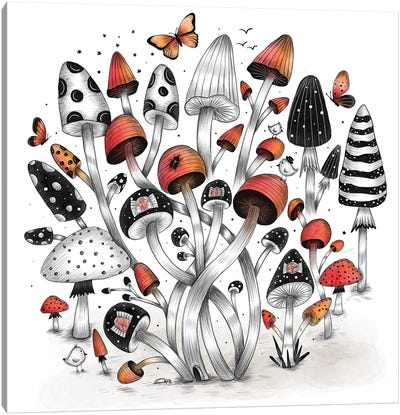 Mushroom World Canvas Art Print