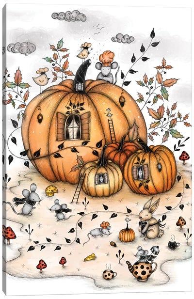 Pumpkin Houses Canvas Art Print