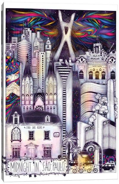 Midnight In Sao Paulo Canvas Art Print
