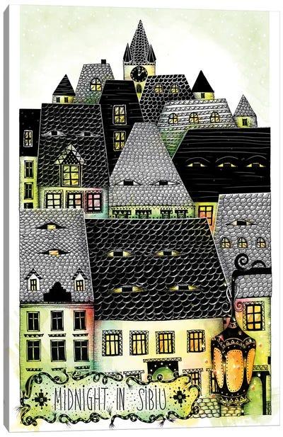 Midnight In Sibiu Canvas Art Print