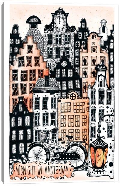 Midnight In Amsterdam Canvas Art Print