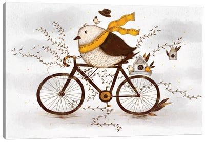 Autumn Birdie Canvas Art Print