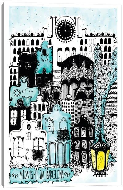 Midnight In Barcelona Canvas Art Print
