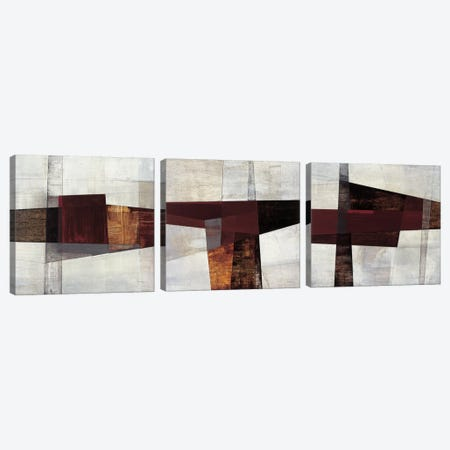 Longcut Triptych Canvas Print Set #MDU3HSET001} by Matias Duarte Canvas Wall Art