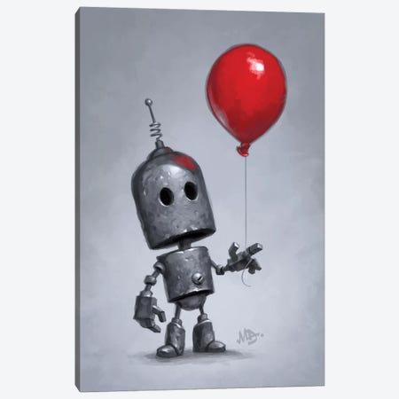 The Red Balloon Canvas Print #MDX20} by Matt Dixon Canvas Print