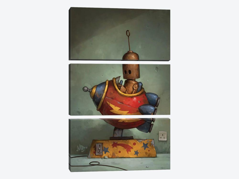 To Boldly Go by Matt Dixon 3-piece Canvas Wall Art