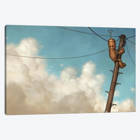Transmission Canvas Print #MDX25} by Matt Dixon Canvas Artwork