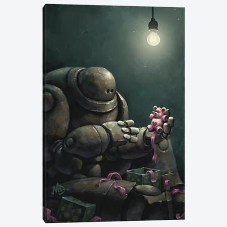 Gortron's Christmas Wish Canvas Print #MDX9} by Matt Dixon Canvas Print