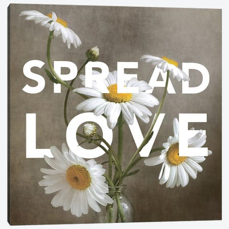 Spread Love Canvas Print #MDY21} by Mandy Disher Canvas Wall Art