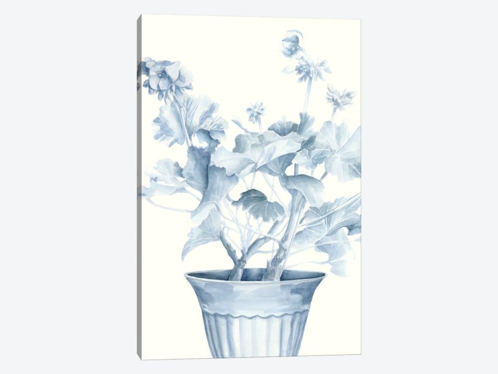 Blue Geranium II by Megan Meagher 1-piece Canvas Art Print