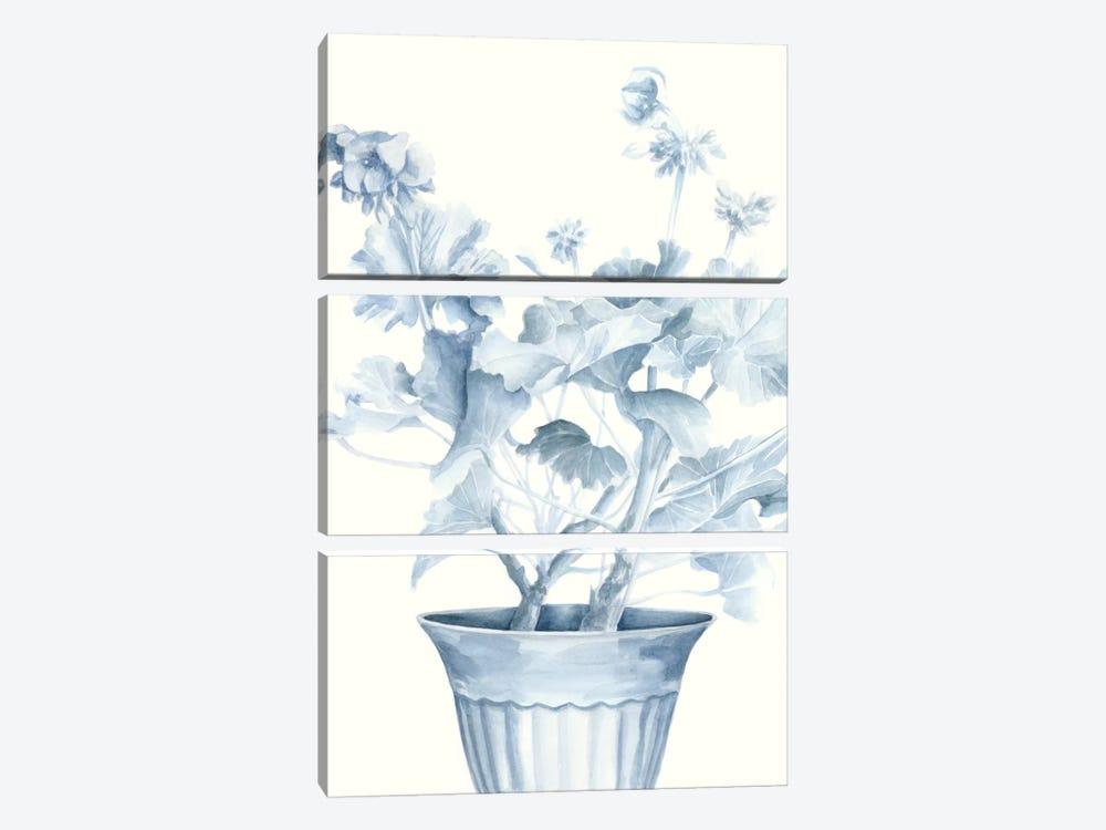 Blue Geranium II by Megan Meagher 3-piece Canvas Print