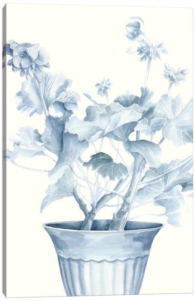 Blue Geranium II Canvas Art Print