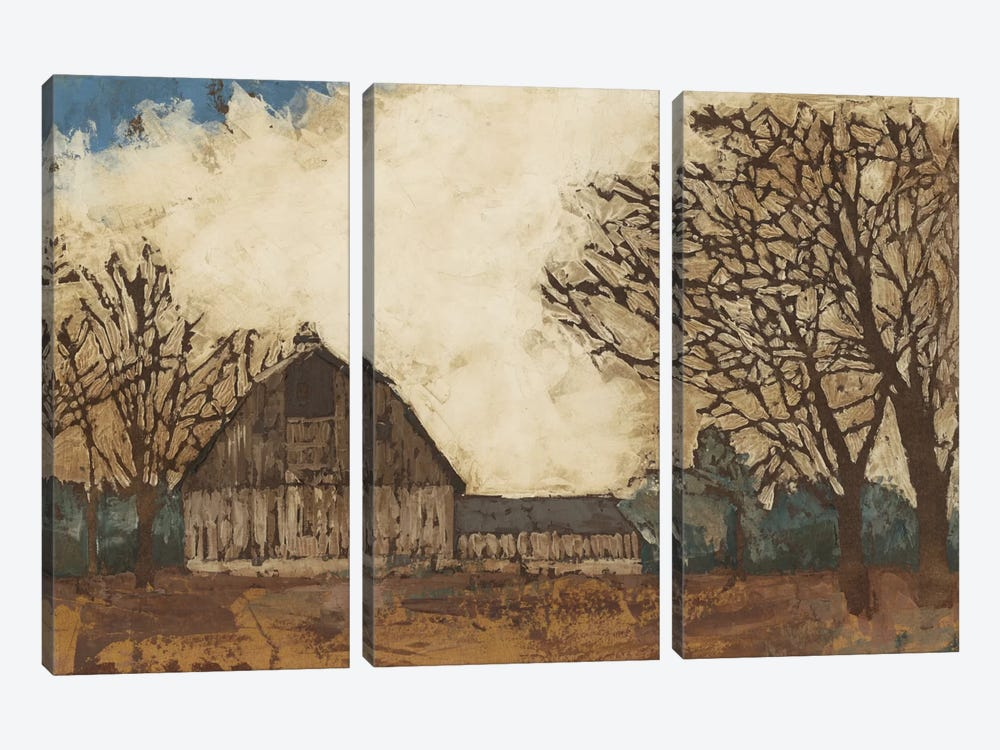 Erstwhile Barn I by Megan Meagher 3-piece Canvas Artwork