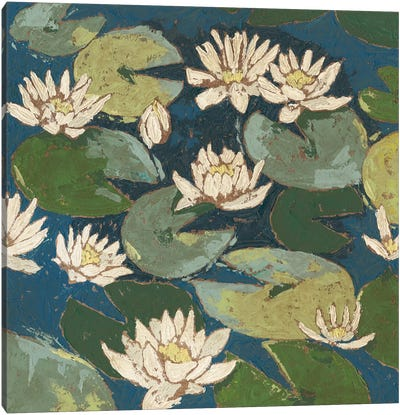 Water Flowers I Canvas Art Print