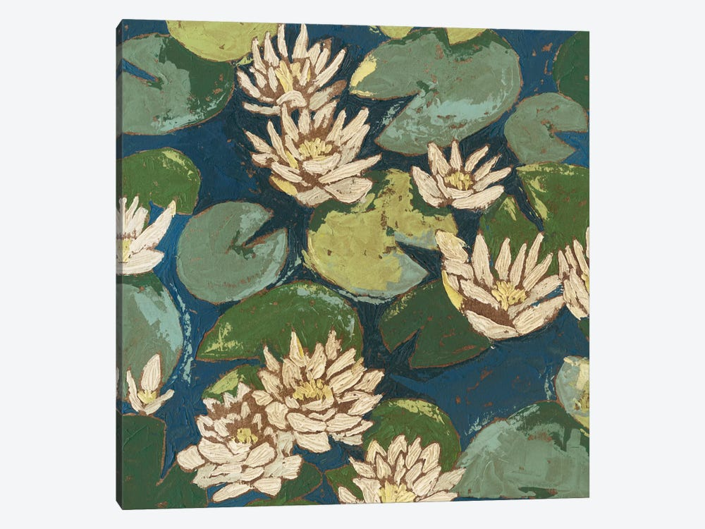 Water Flowers II by Megan Meagher 1-piece Canvas Artwork