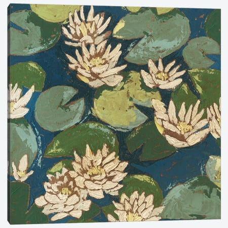 Water Flowers II Canvas Print #MEA19} by Megan Meagher Canvas Artwork