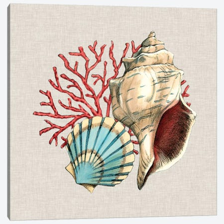 By The Seashore II 3-Piece Canvas #MEA2} by Megan Meagher Canvas Art
