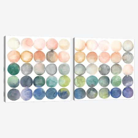 Color Relationships Diptych Canvas Print Set #MEA2HSET001} by Megan Meagher Art Print