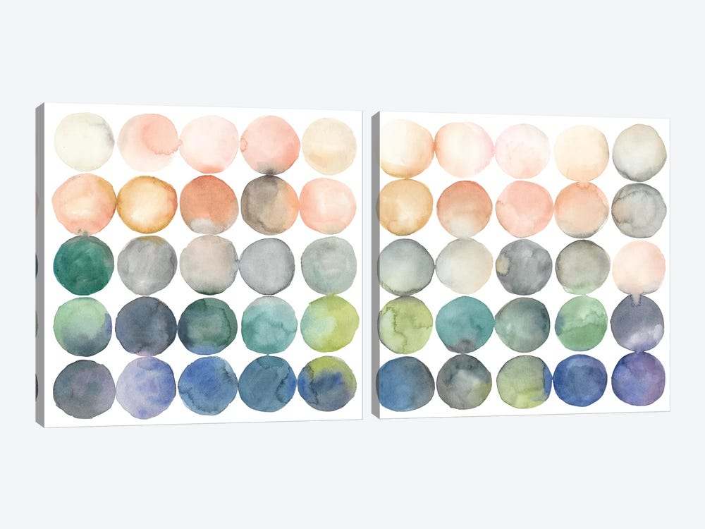 Color Relationships Diptych by Megan Meagher 2-piece Canvas Wall Art