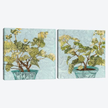 Conservatory Collage Diptych Canvas Print Set #MEA2HSET002} by Megan Meagher Art Print