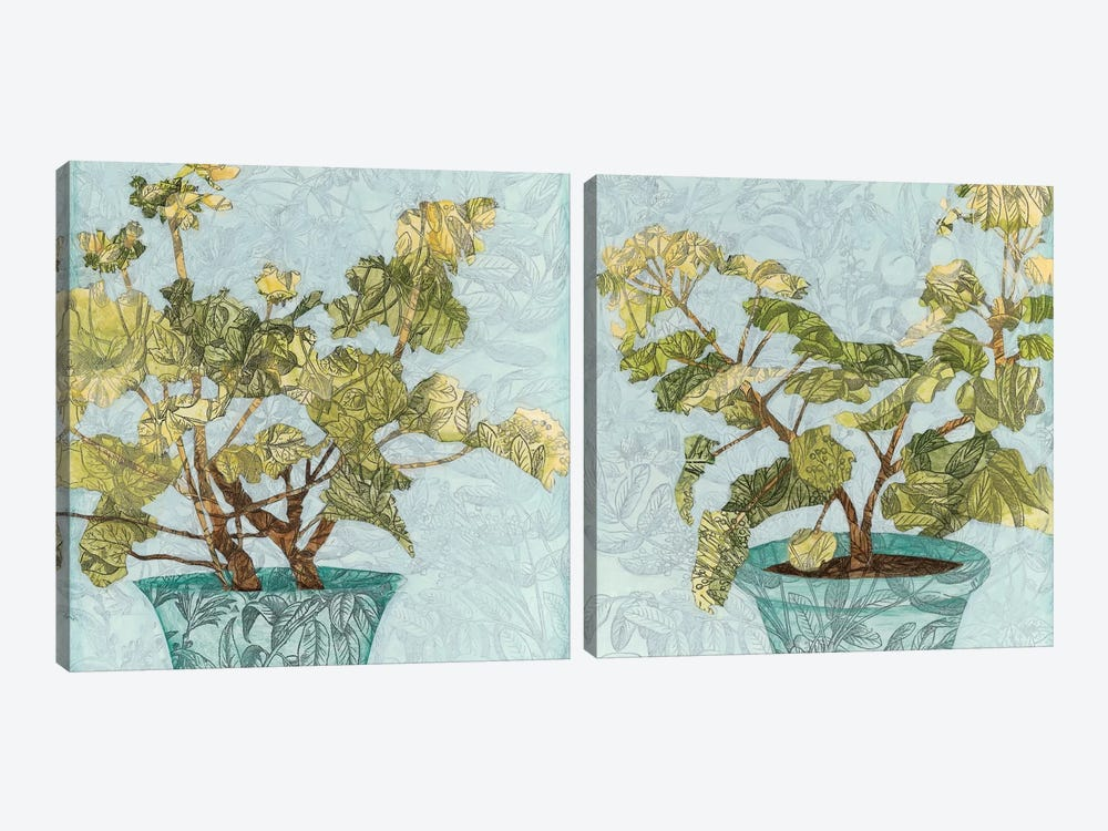 Conservatory Collage Diptych by Megan Meagher 2-piece Art Print