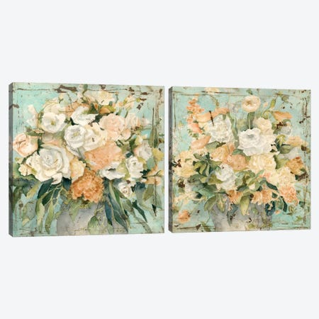 Vintage Arrangement Diptych Canvas Print Set #MEA2HSET003} by Megan Meagher Art Print