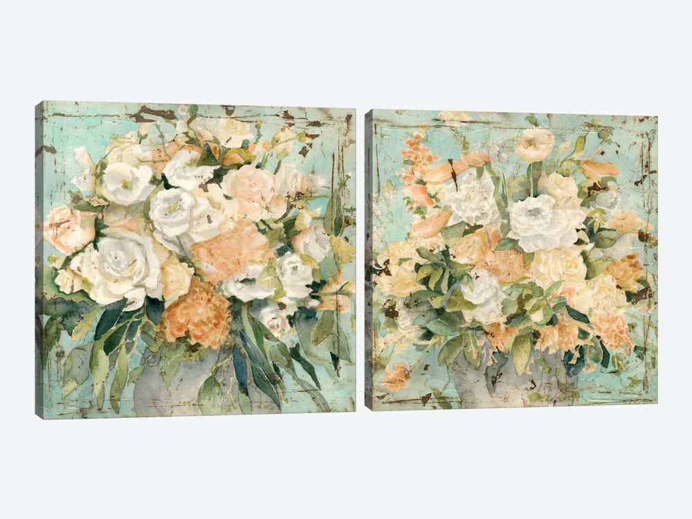 Vintage Arrangement Diptych by Megan Meagher 2-piece Canvas Artwork