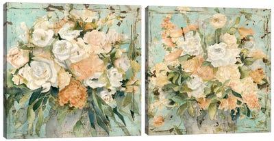 Vintage Arrangement Diptych Canvas Art Print