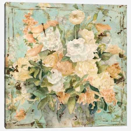 Vintage Arrangement II Canvas Print #MEA37} by Megan Meagher Art Print