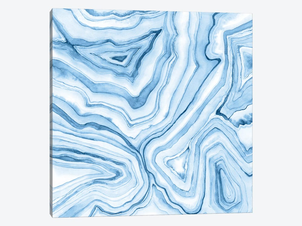 Indigo Agate Abstract II by Megan Meagher 1-piece Canvas Wall Art