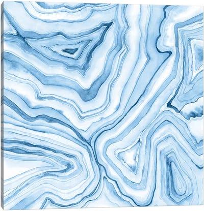 Indigo Agate Abstract II Canvas Art Print