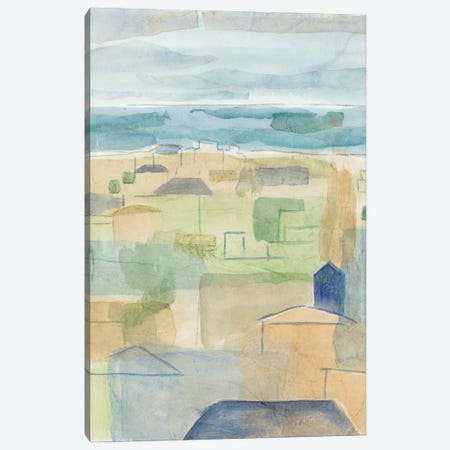 Mediterranean Coast II 3-Piece Canvas #MEA45} by Megan Meagher Canvas Art