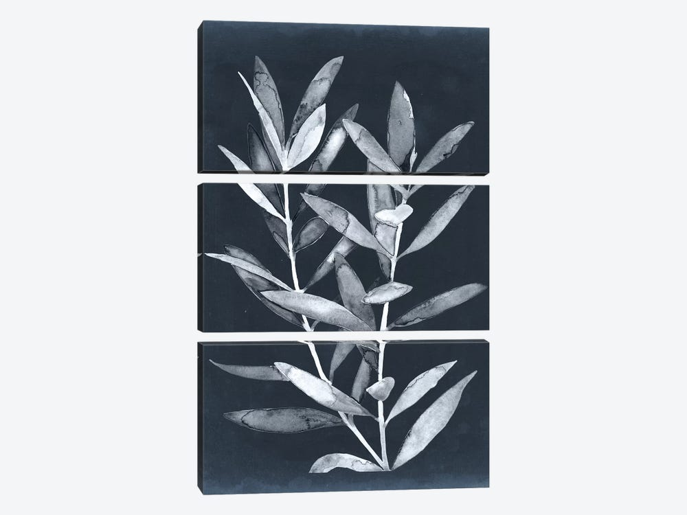 Midnight Leaves II by Megan Meagher 3-piece Canvas Art Print