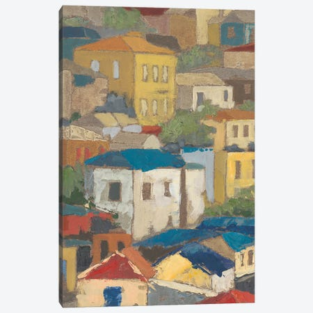 Primary Rooftops I Canvas Print #MEA48} by Megan Meagher Canvas Art Print