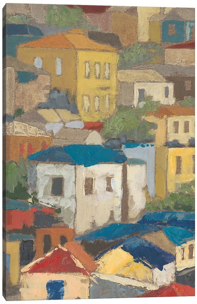 Primary Rooftops I Canvas Art Print