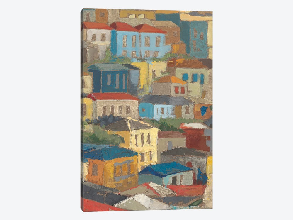 Primary Rooftops II by Megan Meagher 1-piece Canvas Print