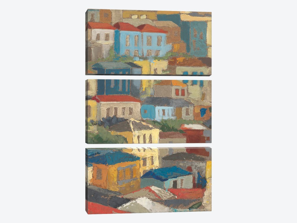 Primary Rooftops II by Megan Meagher 3-piece Canvas Art Print