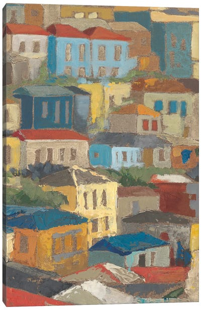 Primary Rooftops II Canvas Art Print