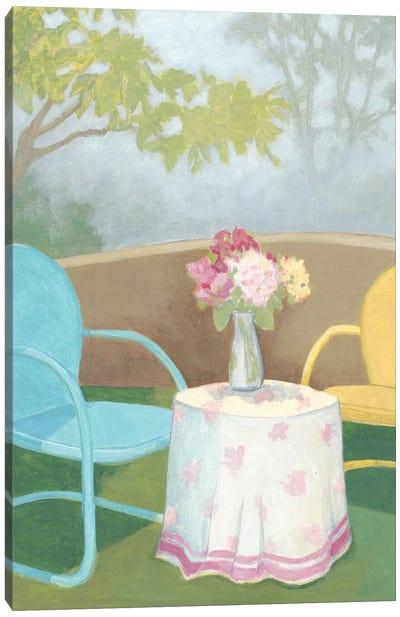 Garden Conversation I Canvas Art Print