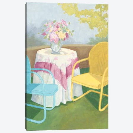 Garden Conversation II Canvas Print #MEA51} by Megan Meagher Canvas Wall Art