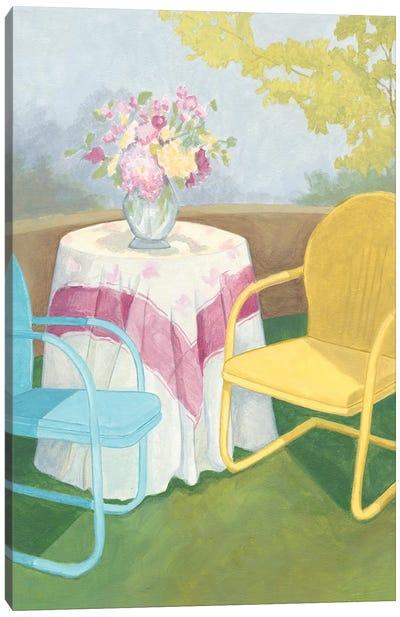 Garden Conversation II Canvas Art Print