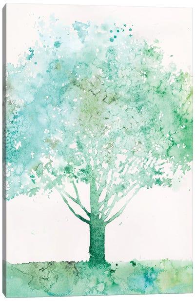 Aquamarine Tree I Canvas Art Print