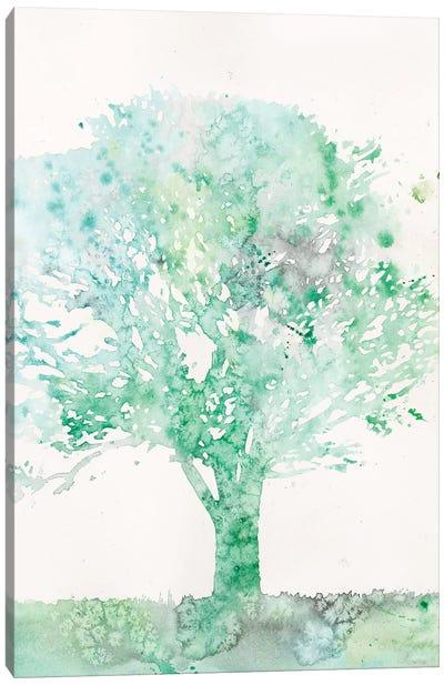 Aquamarine Tree II Canvas Art Print