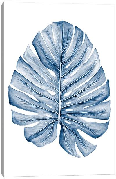 Indigo Tropical Leaves I Canvas Art Print