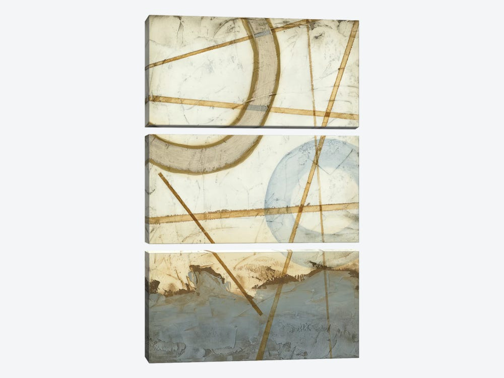 Intersections I by Megan Meagher 3-piece Canvas Wall Art