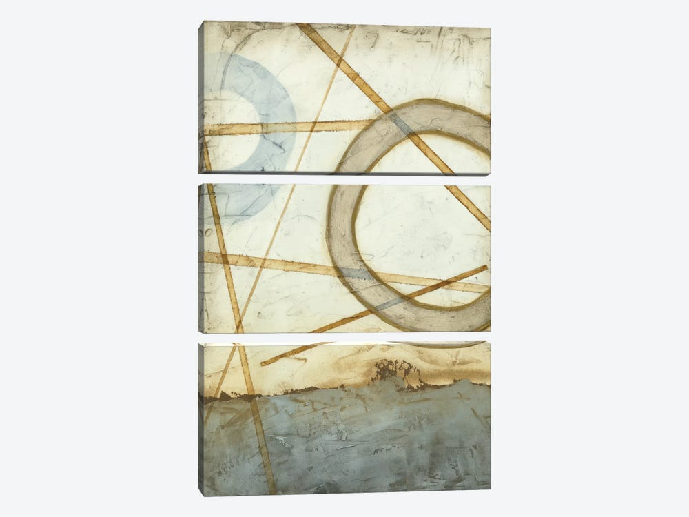 Intersections II by Megan Meagher 3-piece Canvas Print